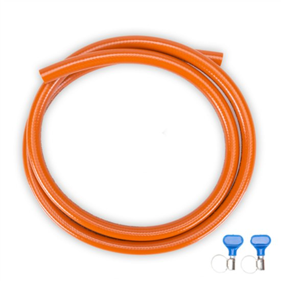 PVC gasslang 3 meter incl. 2 slangklemmen