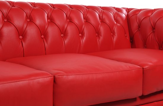 Chesterfield Original Brighton 3-zits Modern Rood