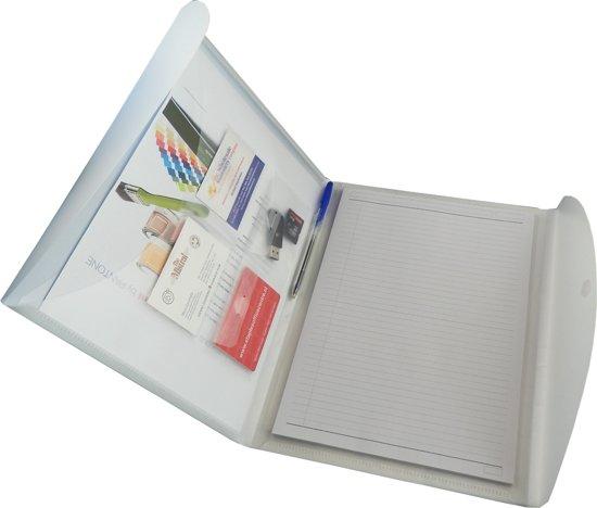EXXO-HFP Schrijfmap - Portfolio-Lite -  voor links- & rechtshandigen - Robijn rood - 10 stuks