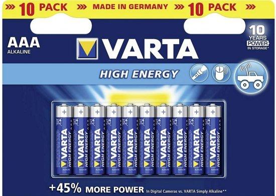 Varta AAA Batterijen High Energy - 10 stuks
