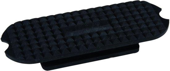 Beugelblokjes recht met nopjes zwart 12 cm