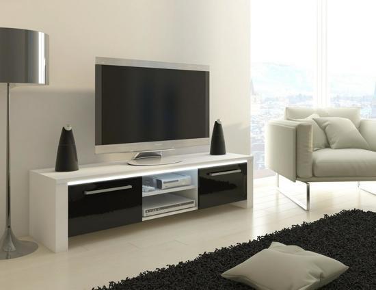 Bol tv meubel tv kast orlanda met led verlichting body wit