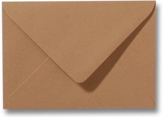 Envelop 15,6 x 22 cm Bruin 100 stuks