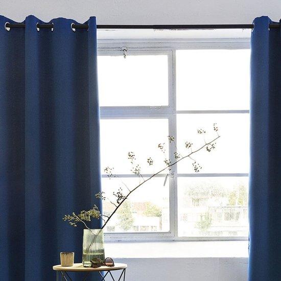 bol.com | Lifa Living gordijnen - Ringen - Blauw - 150 x 250 cm