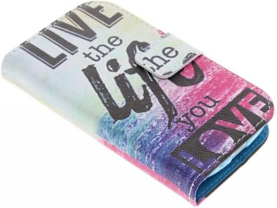 Vivre La Conception De La Vie Tpu Flipcase Voor De Samsung Galaxy Bord fFSegS9Db