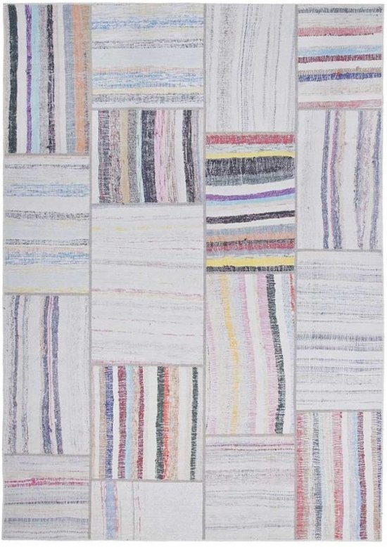 Patchwork Vloerkleed Grey Multicolor Moods NO.15 160 x 230 cm