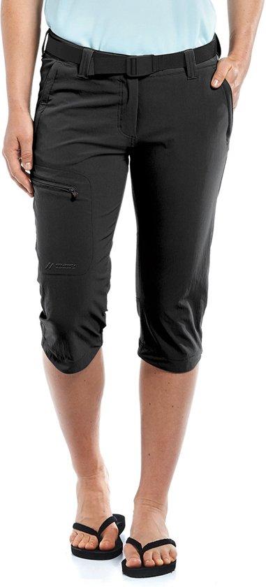 Maier Sports Inara Slim korte broek Dames, black Maat 46