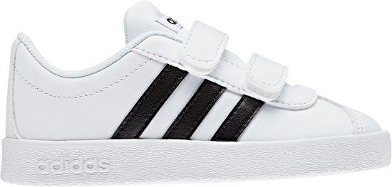 adidas VL Court 2.0 CMF Sneakers Maat 25 Unisex witzwart