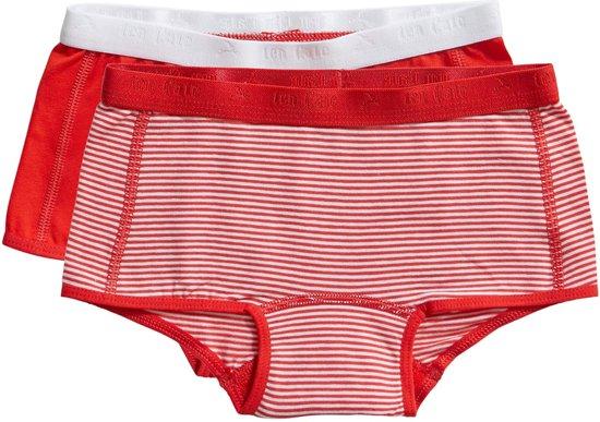 Ten Cate - Meisjes 2-Pack Shorts Rood - 134/140