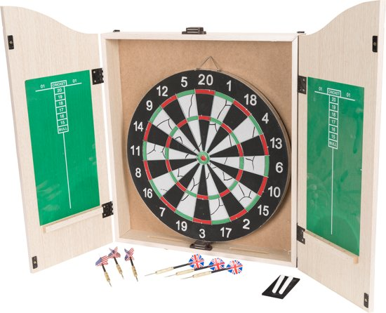Dartbord In Kast : Bol dartkabinet bristle kingshead flocked dartbord