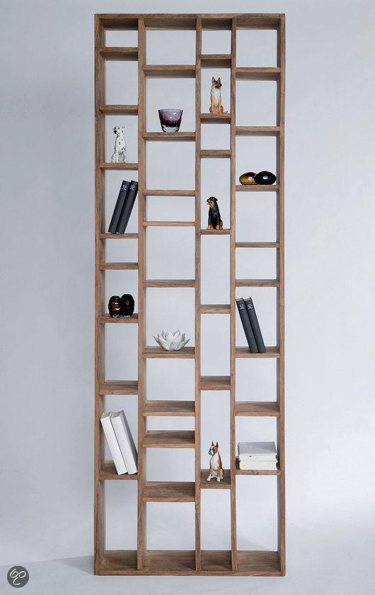 bol.com | Boekenkast Authentico Collector 210 cm - Bruin - Sheesham ...