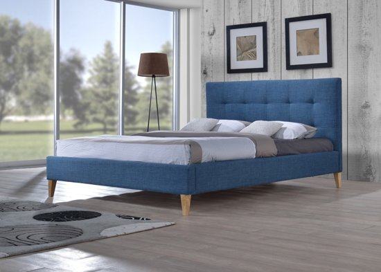 bol tweepersoonsbed mississippi blauw 160 x 200 inclusief