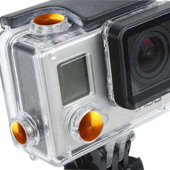 3-PCs TMC aluminium geanodiseerde kleurenset voor GoPro Hero 3+ (oranje)