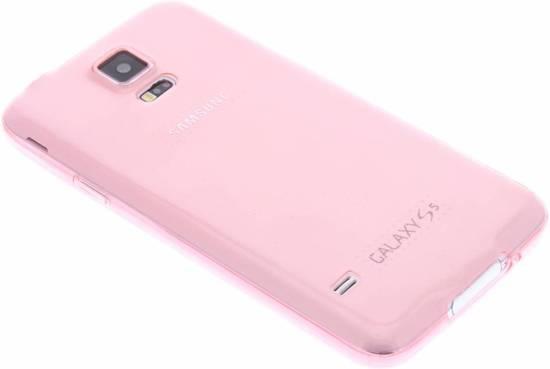 Cas Rose Dur Silicone Transparent Pour Samsung Galaxy S5 (plus) / Neo F7NbdDJC