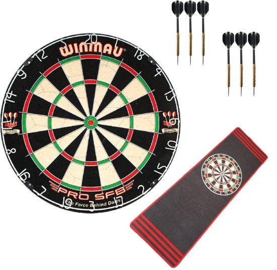 Winmau Pro SFB + 2 sets dartpijlen + dartmat superset - dartset - dartpijlen - dartbord - dartmat