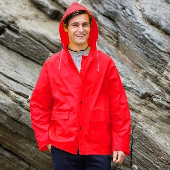 Rode regenjas Splash voor volwassenen S/M (38/40- 48/50)