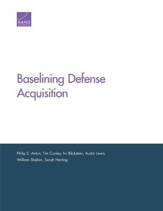 Baselining Defense Acquisition