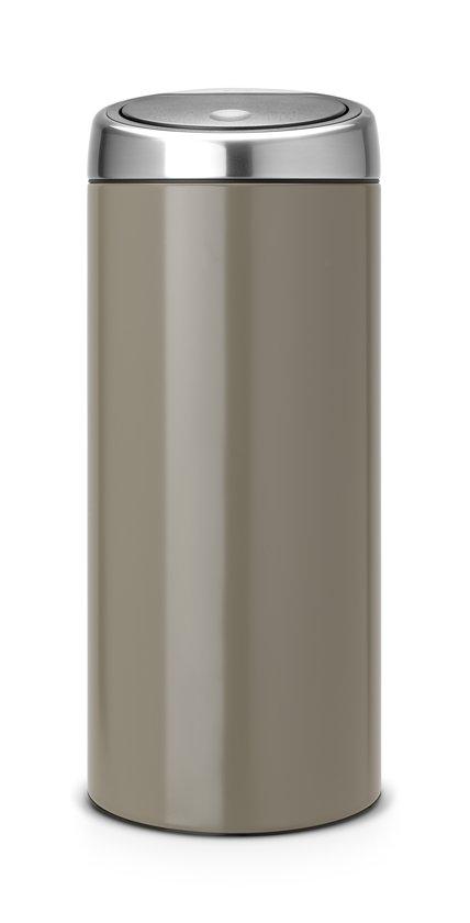 Brabantia Touch Bin 30 Liter Afvalemmer.Brabantia Touch Bin Prullenbak 30 L Taupe