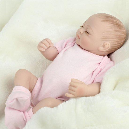 vangst superieure kwaliteit winkel bestsellers Babypop SONO met roze kleertjes - knuffel pop - Reborn Baby