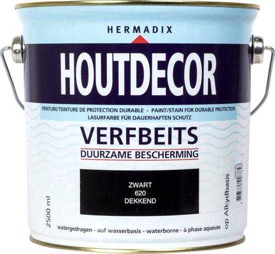 Hermadix Houtdecor Kleuren.Bol Com Hermadix Houtdecor Verfbeits Dekkend 2 5 Liter 620 Zwart