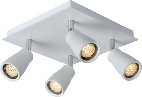 lucide lana plafondspot led gu10 4x5w. Black Bedroom Furniture Sets. Home Design Ideas