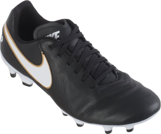 separation shoes 7a692 bb67f Nike Tiempo Genio II Leather FG Voetbalschoenen - Maat 39 - Mannen -  zwartwit