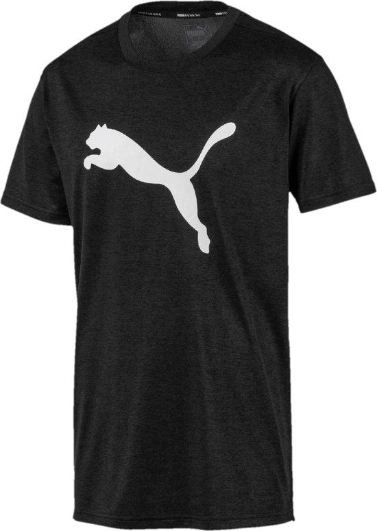 PUMA Heather Cat Tee Sportshirt Heren - Puma Black Heather - Maat XL