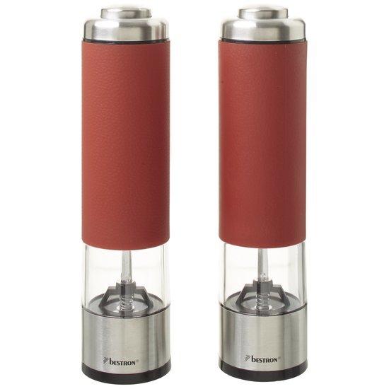 Bestron APS526R - Elektrische Peper- & Zoutmolen  - Rood