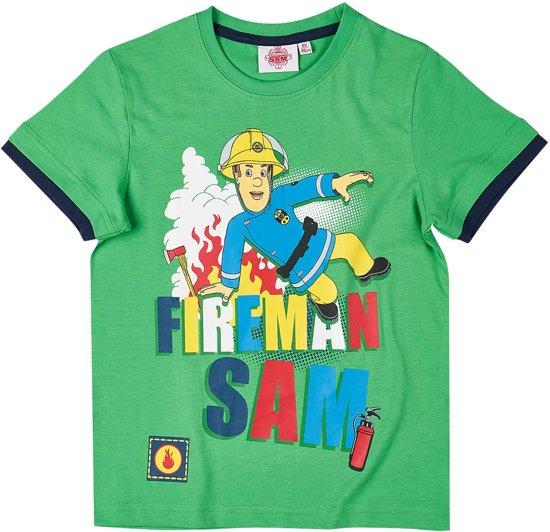 Brandweerman-Sam-T-shirt-met-korte-mouw-groen-maat-110