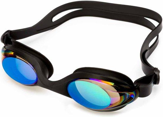 #DoYourSwimming - Zwembril incl. transportbox - »Barracuda« - anti-fog systeem, krasbestendige glazen met geïntegreerde UV-bescherming - Vanaf ca. 12 jaar & volwassenen - zwart