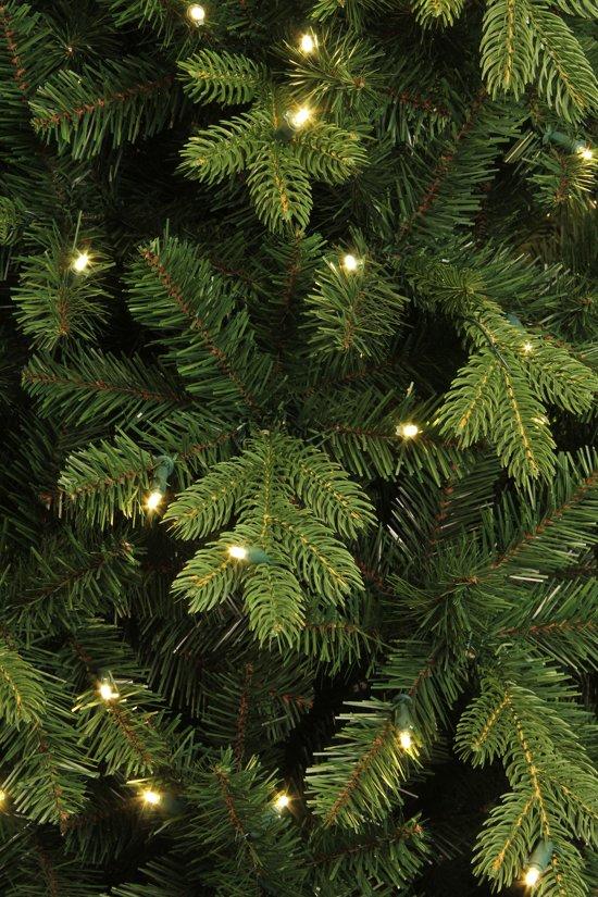 black box kunstkerstboom met verlichting 185x112 cm groen 898 zijtakken 200 lampjes