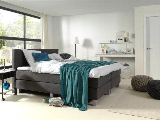 actie sleeptime comfort boxspring eenpersoons 140x200 antraciet. Black Bedroom Furniture Sets. Home Design Ideas