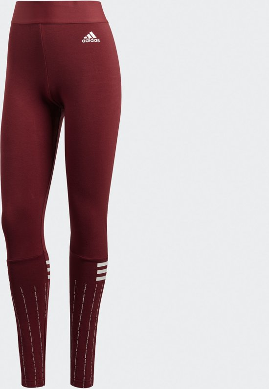 Sportlegging Print Dames.Bol Com Adidas W Sid Print Tight Sportlegging Dames Noble Maroon