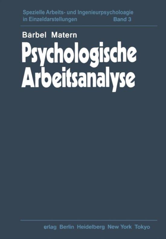Psychologische Arbeitsanalyse