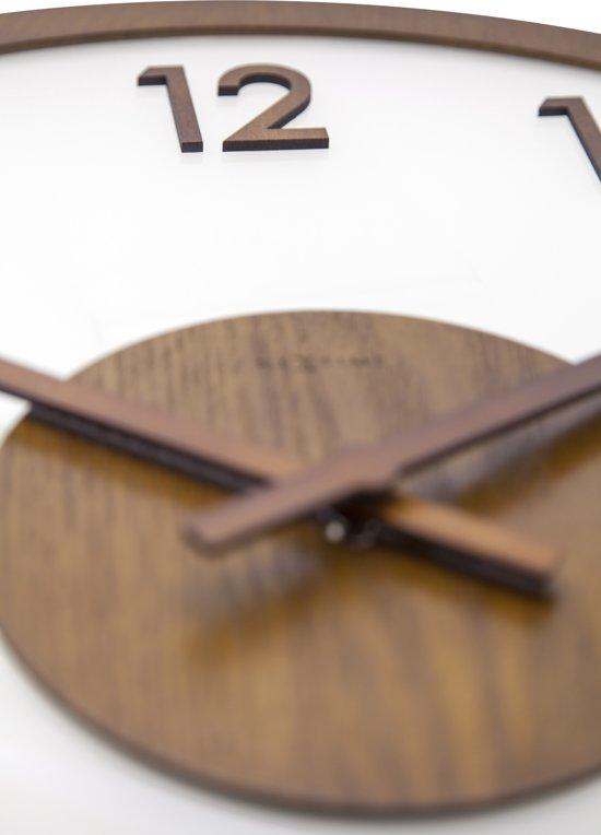 NeXtime Frosted Wood Wandklok à 50 cm