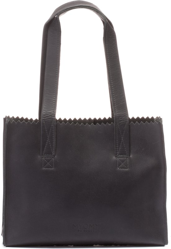 42eb45fe8d3 ... Tas. MYOMY My Paper Bag Handbag Zip - Handtas - Hunter off black