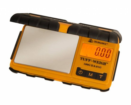 On Balance Tuff-Weigh Oranje / Zwart Digitale Precisie Weegschaal 0.01 tot 100 Gram Nauwkeurig