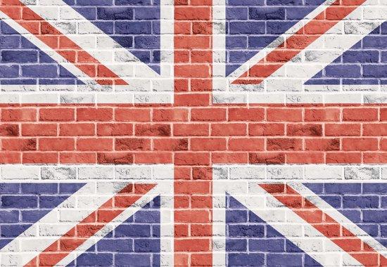 Fotobehang Brick Wall Union Jack   XL - 208cm x 146cm   130g/m2 Vlies