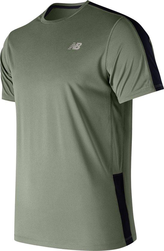 New Balance Accelerate Ss Sportshirt Heren - Green