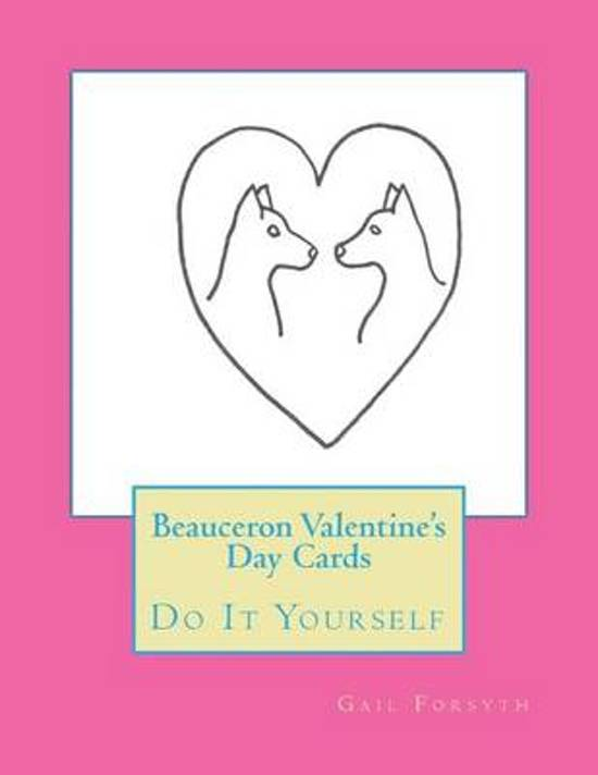 Beauceron Valentine's Day Cards