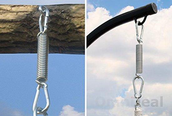 Metalen ophangset voor het ophangen van hangmat hangmatplafonds tot 150 kg hangmatwandophanging