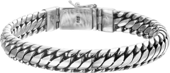 The Jewelry Collection For Men Armband 10 mm 21 cm - Zilver Geoxideerd