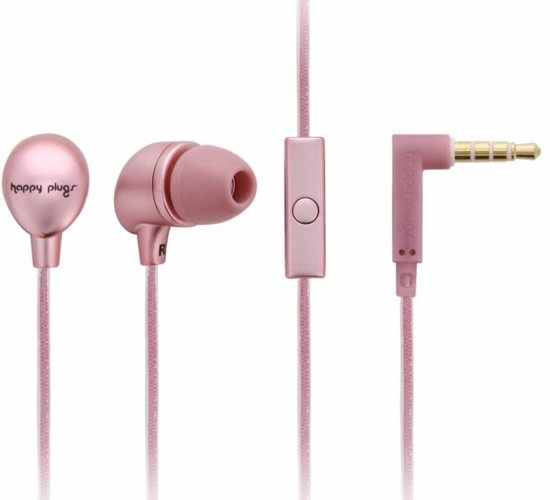 Happy Plugs Hoofdtelefoon in-ear pink gold