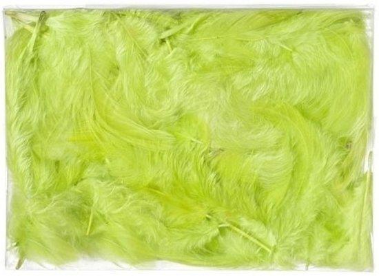10 gram groene decoratie dons veren