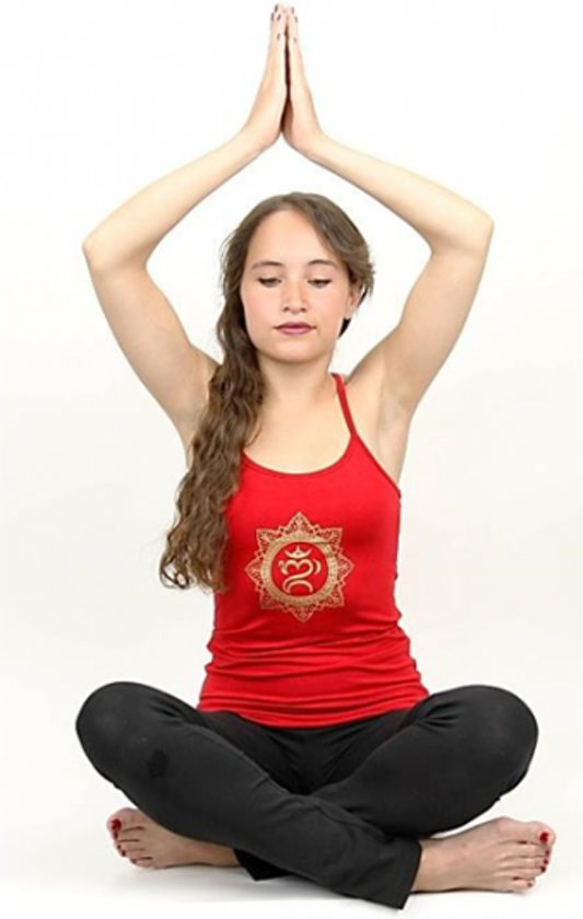 Yoga top - Ohm bali - Rood - Maat M