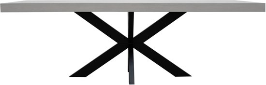 Industriele Tafel Eettafel.Industriele Beton Cire Tafel 220cmx100cm Metalen Tafelpoten Eettafel