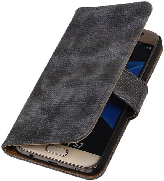 MP Case Grijs glamour bookcase voor de Samsung Galaxy S7 wallet cover in Carlsbourg