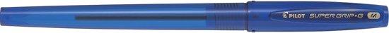 2x Pilot balpen Super Grip G medium met dop, blauw, value pack met 30 + 10 stuks