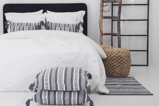Flamant Home Linen Plaid Plume White - Plaid - 140 x 260 cm - Wit