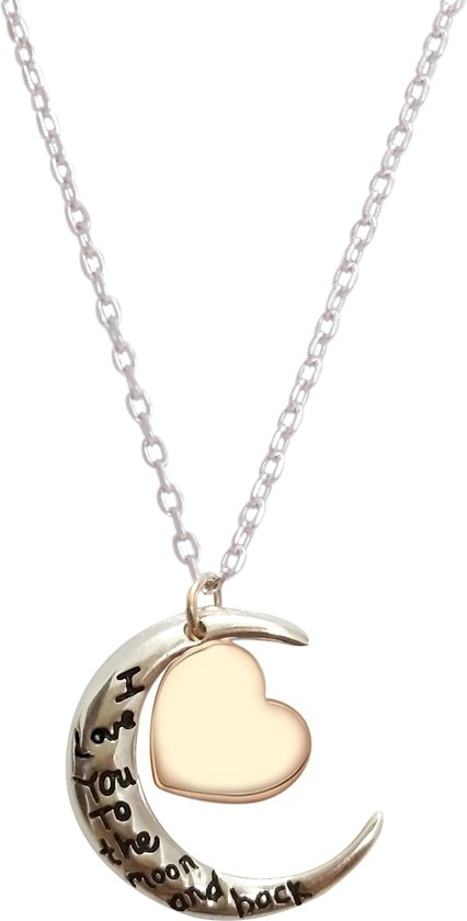 Fate Jewellery FJ484 – I love you to the moon and back – 925 Zilver – Maan – 45cm + 5cm